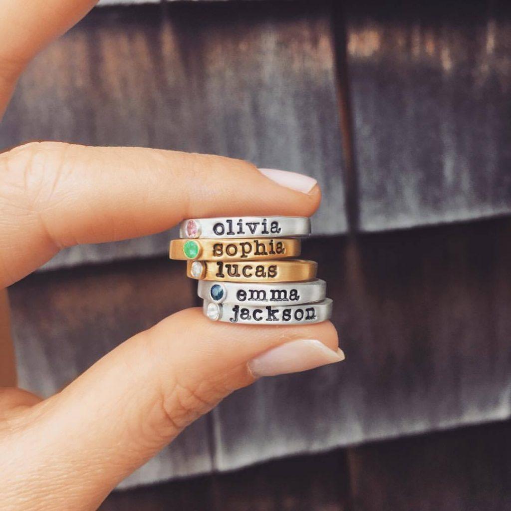 Custom Stack Rings - Slate and Tell