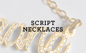 Script Necklaces
