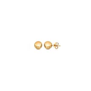 6mm Gold Ball Stud Earrings