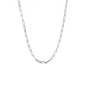 Small  Silver Paperclip Necklace