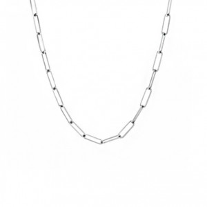 Large Silver Paperclip Necklace