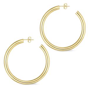 45mm Gold Thick Hoop Earrings