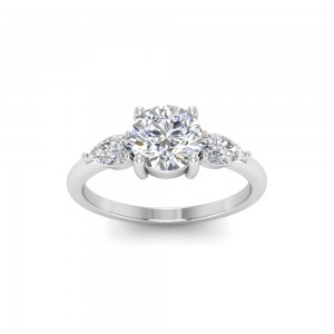 Cherish Three Stone Ring