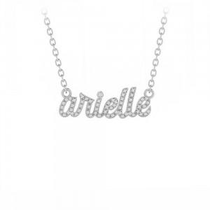 Personalized Pavé Script Necklace