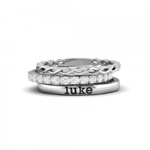 Twine Personalized Ring Stack