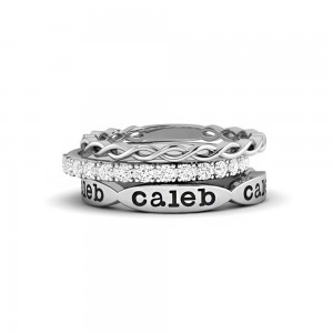 The Trio Personalized Ring Stack