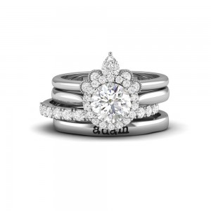 Nesting Personalized Engagement Ring Stack