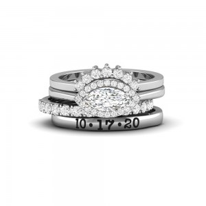 Eye Love It Personalized Engagement Ring Stack