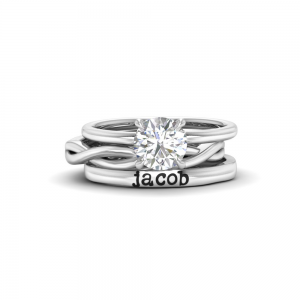True Love Personalized Engagement Ring Stack