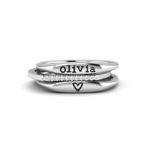 Cherish You Personalized Ring Stack