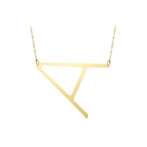 Large Gold Initial Necklace A