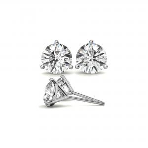 2 Ctw Round MoissaniteMartini Stud Earrings