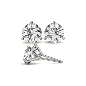 4 Ctw Round Moissanite MartiniStud Earrings