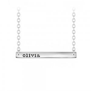 Horizontal Bar Name Necklace