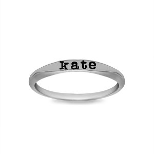 Personalized Soft Edge Flat Top Ring
