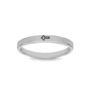 Cross Stamped Ring
