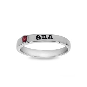 Personalized Single Stone Ring