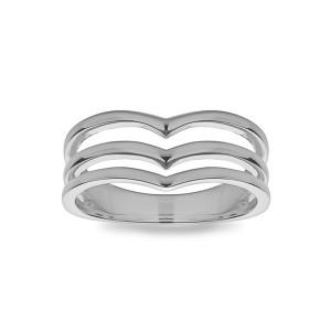 Triple Chevron Ring
