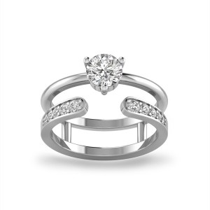 Embrace Solitaire Open Ring