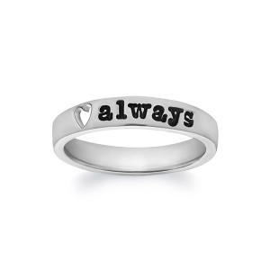 Personalized Heart Print Ring