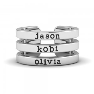 Three In One Name Ring