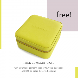 Free Jewelry Case with your purchase of $650 & up!