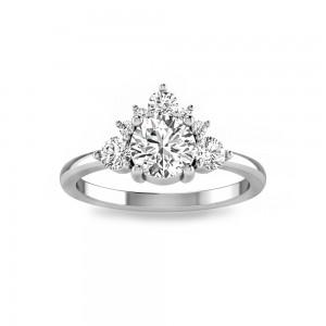 Three Stone Nesting Engagement Ring