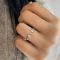 Pave Initial Stone Open Ring A